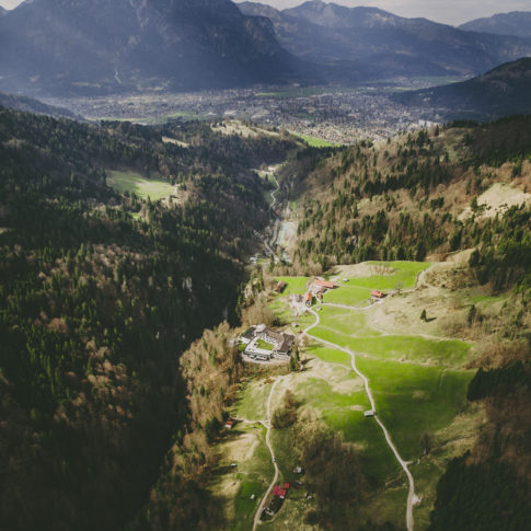 Luftaufnahme Hotel Graseck