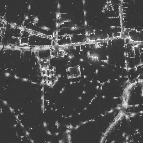 Luftbild Garmisch-Partenkirchen Kurpark Bei Nacht