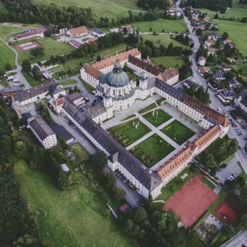 Kloster Ettal Luftaufnahme