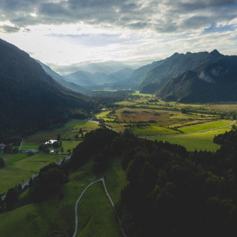 Luftaufnahme Ammergauer Alpen Ettal