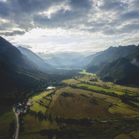 Luftaufnahme ammergauer Alpen Moos