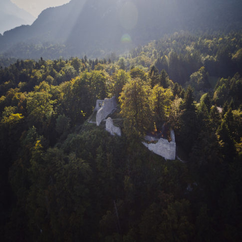 Burgruine Burgrain Garmisch-Partenkirchen Luftaufnahme