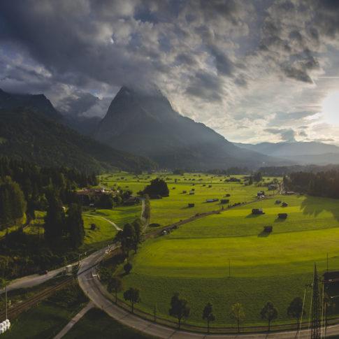 Luftfoto Zugspitze