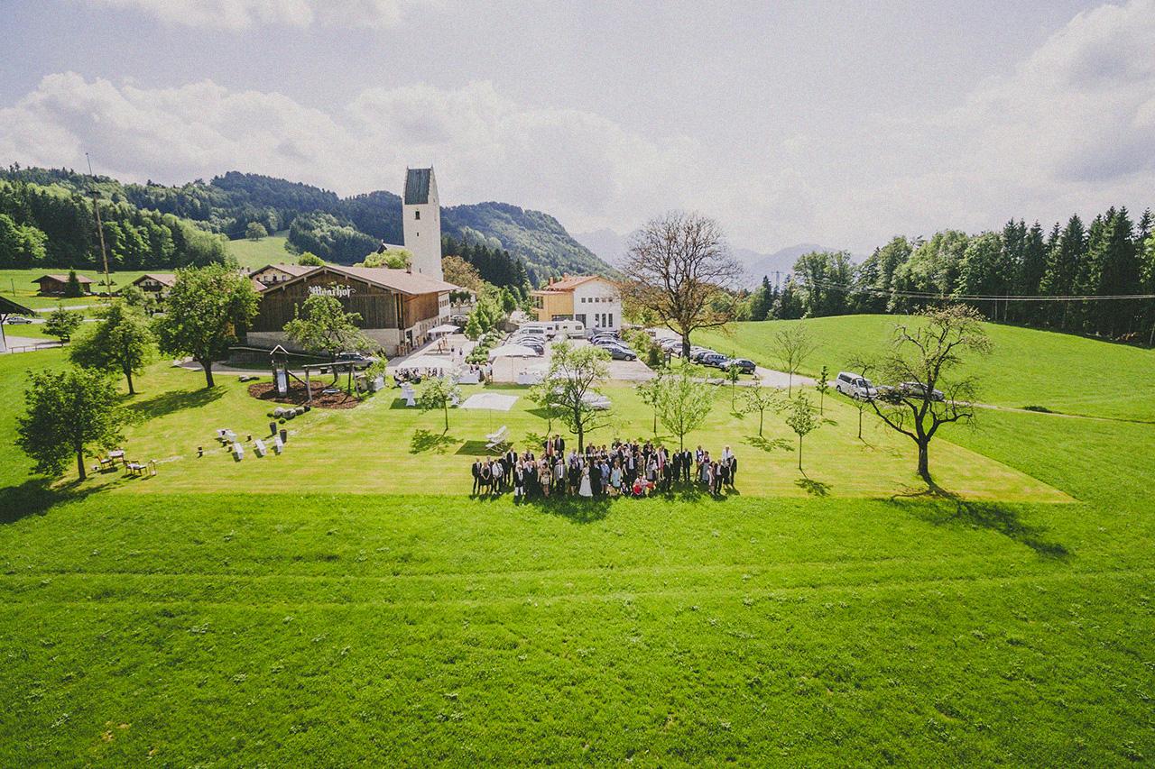 Ina und Jens Hochzeit Luftbild